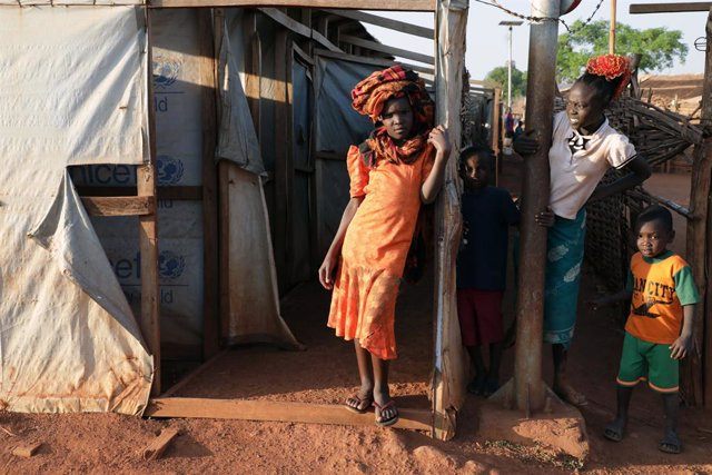 Niños desplazados en Sudán del Sur