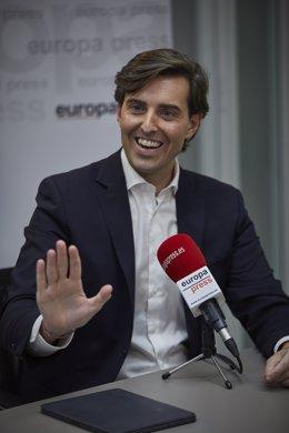 El sotssecretari de Comunicació del PP, Pablo Montesinos, en una entrevista d'Europa Press. Madrid (Espanya), 3 de desembre del 2020.