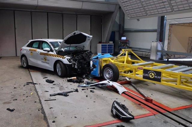 Prueba de impacto Euro NCAP sobre el Audi A3