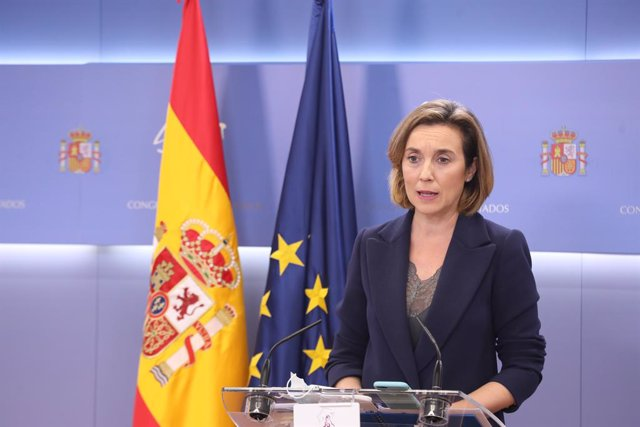 La portaveu parlamentària del PP, Cuca Gamarra, en la  roda de premsa posterior a la Junta de Portaveus. Madrid (Espanya), 9 de desembre del 2020.