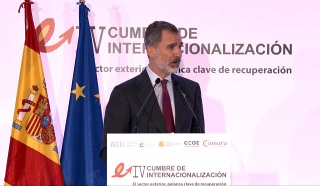 El Rey Felipe VI en la Clausura de la VI Cumbre de Internacionalización