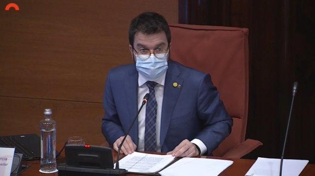 El vicepresident i conseller d'Economia i Hisenda de la Generalitat, Pere Aragonès