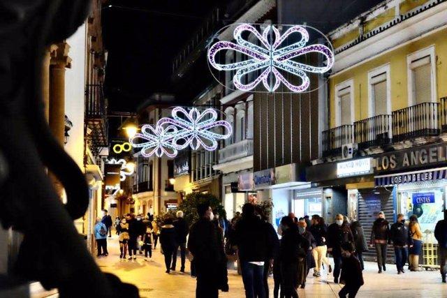 Alumbrado navideño en Huelva.