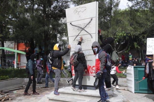 Imagen de archivo de las protestas contra el presidente de Guatemala, Alejandro Giammattei