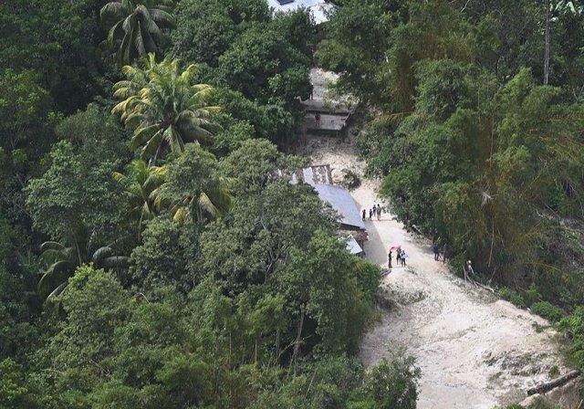 Zona dañada por el paso de 'Eta' e 'Iota' en San Pedro Sula