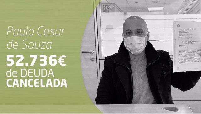 Paulo Cesar, cancela todas sus deudas con Repara tu deuda abogados