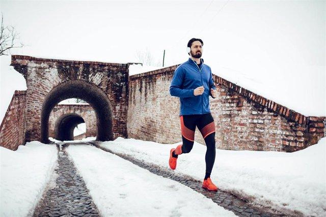Correr en invierno.