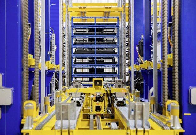 Producción de baterías eléctricas de Volkswagen.