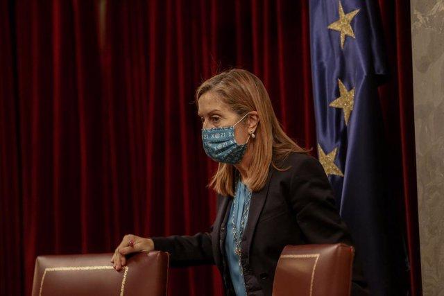 La vicesecretaria general de Política Social del PP, Ana Pastor, durante una sesión plenaria en la Cámara Baja, en Madrid (España), a 30 de noviembre de 2020. El Pleno afronta desde hoy la fase final del debate del proyecto de Presupuestos Generales del E