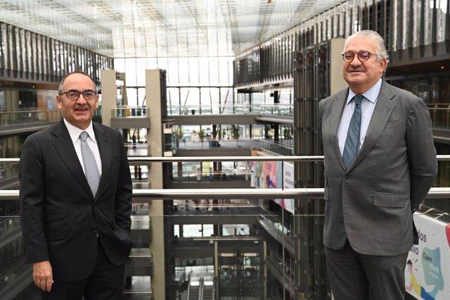El consejero delegado de Endesa, José Bogas, y el presidente del Spain Investors Day, Benito Berceruelo