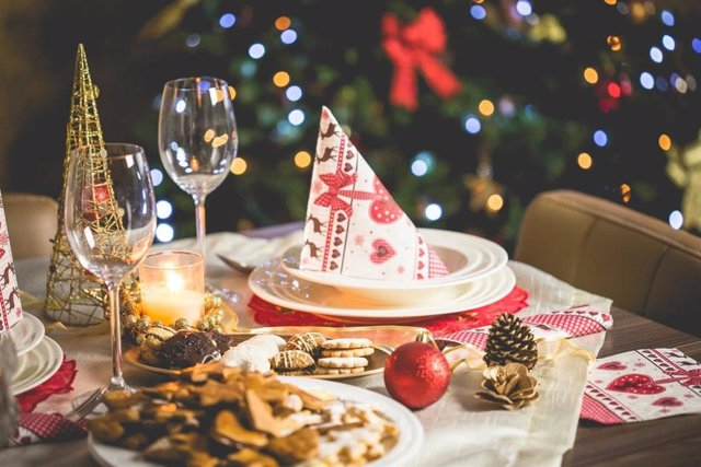 Cena navidad. Navidades. Comida de navidad