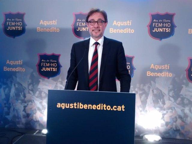 Augustí Benedito, candidato a la presidencia del FC Barcelona