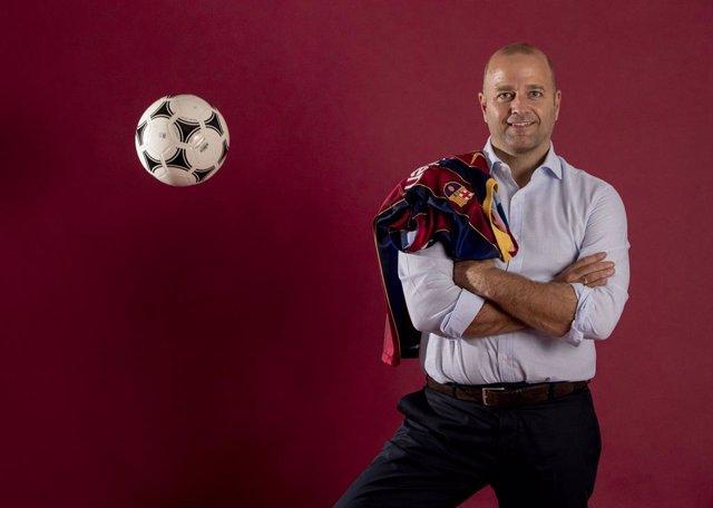 El exjugador y exdirectivo del FC Barcelona Xavi Vilajoana, precandidato a la presidencia del FC Barcelona
