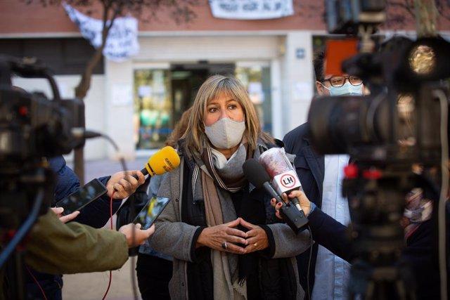 L'alcaldessa de l'Hospitalet de Llobregat, Núria Marín, 16 d'octubre del 2020 (Arxiu).