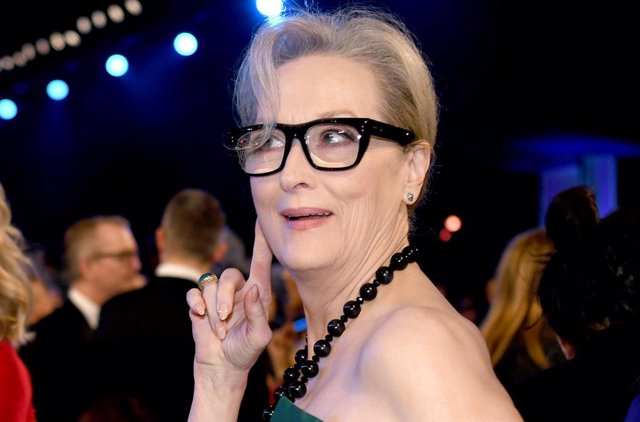 Meryl Streep en los premios del Sindicato de Actores (Screen Actors Guild Awards) en The Shrine Auditorium de Los Angeles, California.