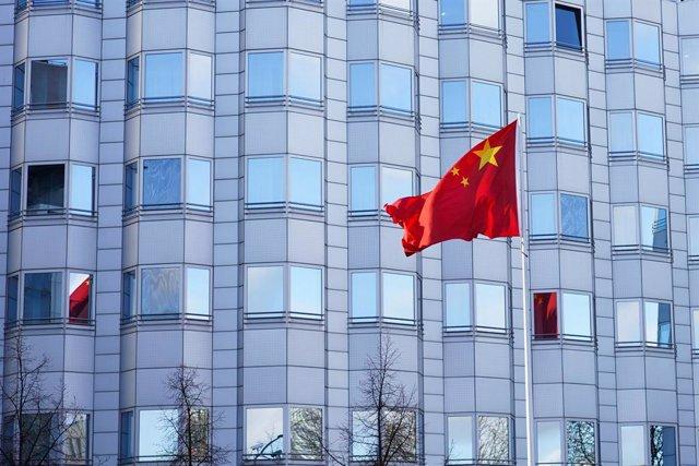 Imagen de recurso de una bandera China.