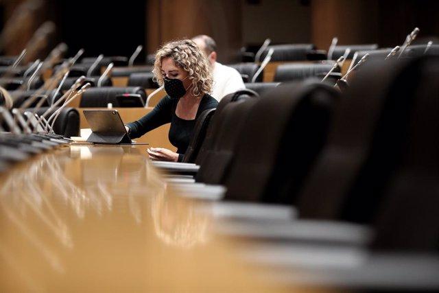 La portavoz de la Comisión de Educación y Formación Profesional, Marta Martín Llaguno, durante la Comisión de Educación y Formación Profesional en el Congreso de los Diputados, en Madrid (España), a 24 de noviembre de 2020. La reunión tiene lugar pocos dí