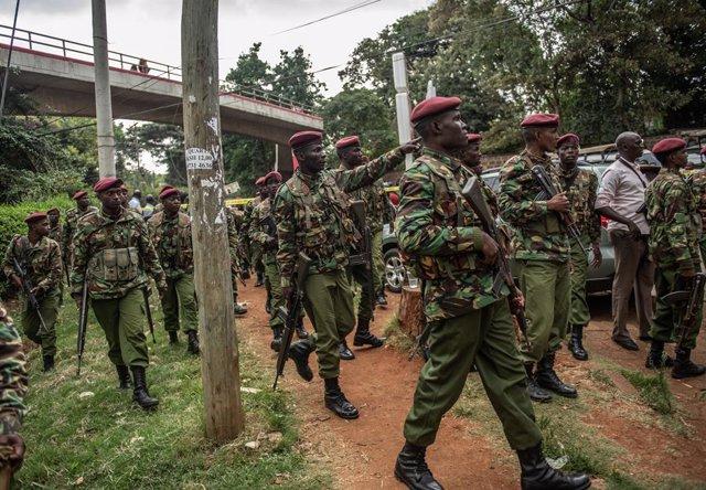 Imagen de archivo de las fuerzas de seguridad de Kenia.