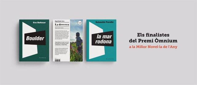 El Premi Òmnium de Novel·la designa com a finalistes Eva Baltasar, Miquel Martín i Sebastià Perelló