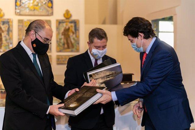 Los presidentes de C-LM, CyL y Aragón, en la cumbre tripartita de Talavera de la Reina
