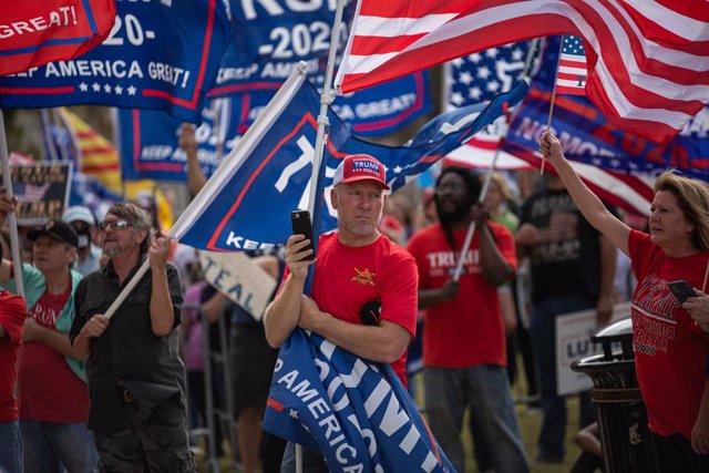 Seguidores de Donald Trump concentrados en Fort Worth, Texas
