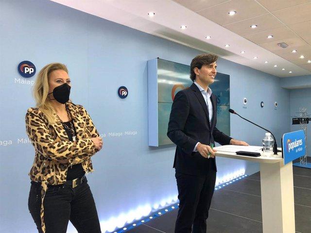 Pablo Montesinos (PP) en rueda de prensa en Málaga