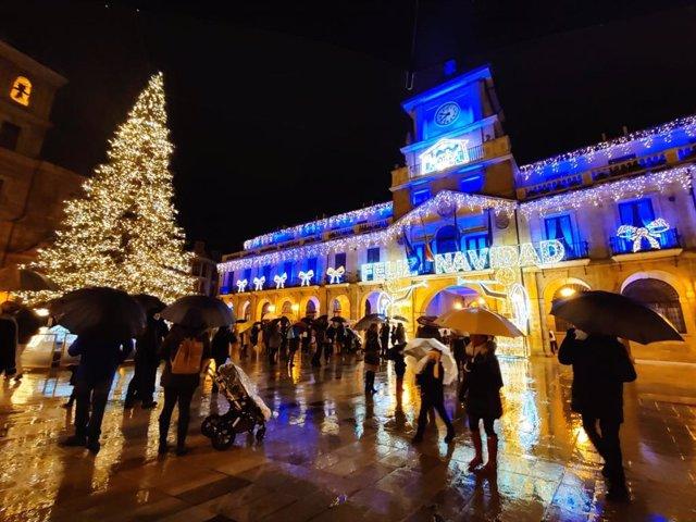Navidad en Oviedo. Ayuntamiento.