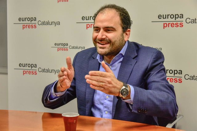 El president de SCC, Fernando Sánchez Costa, durant l'entrevista