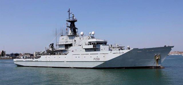 HMS Tyne, barco patrulla de la Marina británica
