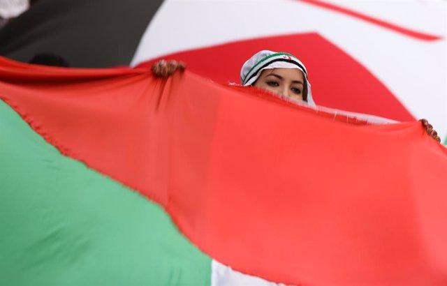 Protesta en favor de la autodeterminación del Sáhara Occidental en Madrid