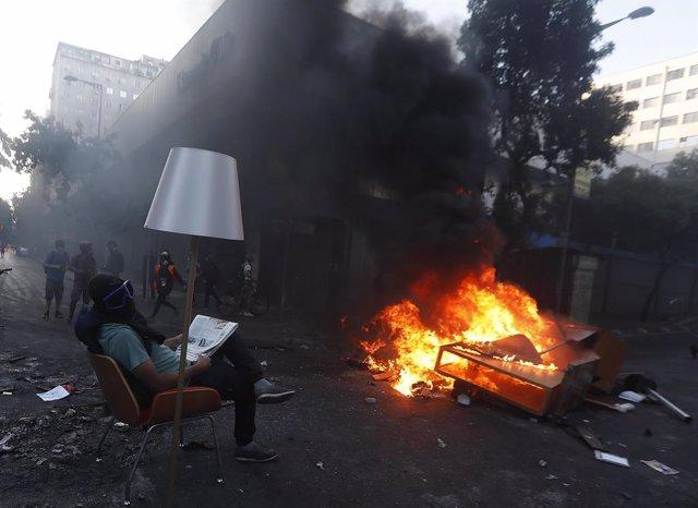 Protestas contra el gobierno para exigir la renuncia del presidente chileno, Sebastián Piñera