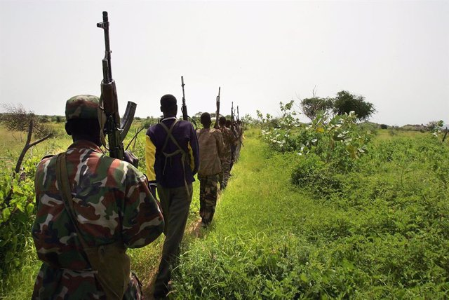 Imagen de archivo del conflicto en Nigeria.
