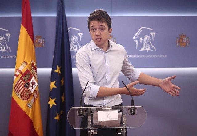 El diputado de Más País, Íñigo Errejón, ofrece una rueda de prensa en el Congreso de los Diputados, en Madrid (España), a 2 de diciembre de 2020.