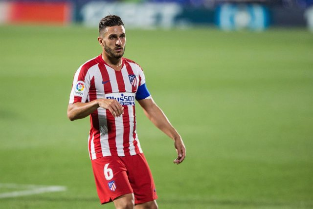 Koke of Atletico Madrid during the spanish league, LaLiga, football match played between Getafe Club Futbol and Club Atletico de Madrid at Alfonso Perez Coliseum on July 16, 2020 in Madrid, Spain.