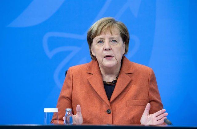 13 December 2020, Berlin: German Chancellor Angela Merkel speaks durting a press conference at the Federal Chancellery following consultations with the heads of government of the federal states. Photo: Bernd von Jutrczenka/dpa-Pool/dpa