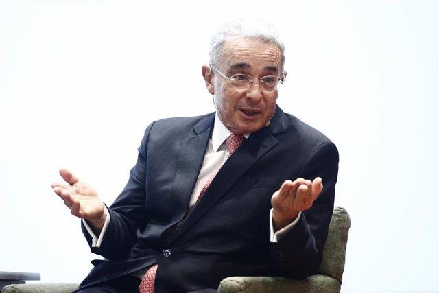 El expresidente de Colombia Álvaro Uribe en una visita a España