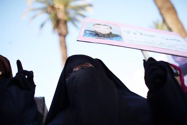 Imagen de archivo de una manifestación islamista en Rabat, Marruecos