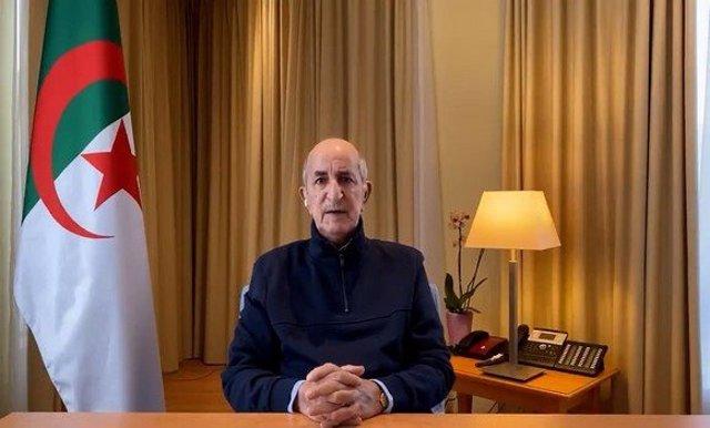 El president d'Algèria, Abdelmayid Tebune