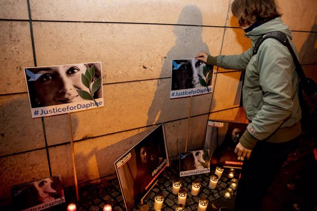 Vigilia en honor a la periodista de investigación asesinada Daphne Caruana Galizia