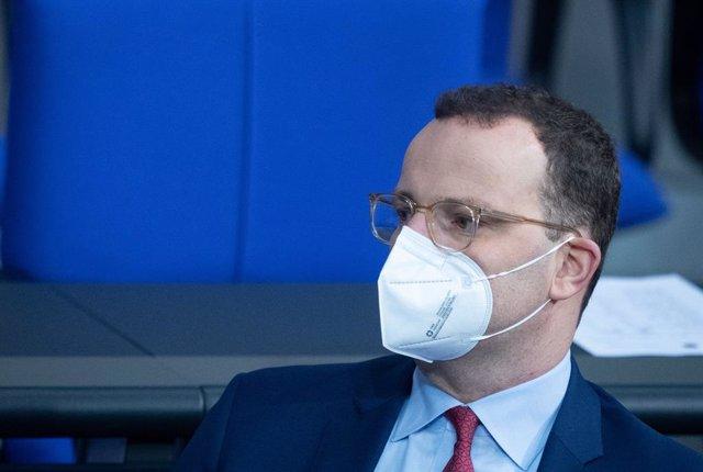 Jens Spahn, ministro de Sanidad de Alemania, en el Bundestag