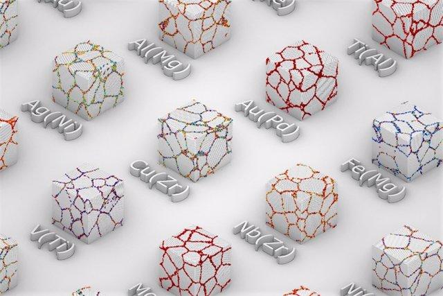 Los investigadores han encontrado una nueva forma de predecir las propiedades de las aleaciones metálicas basándose en reacciones en los límites entre los granos cristalinos del metal primario.