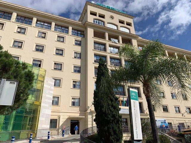 Fachada del Hospital Regional de Málaga