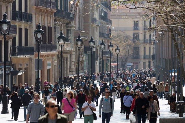 Portal de l'Àngel, Barcelona (Arxiu)