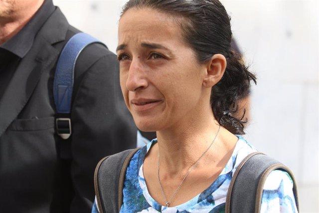 Patricia Ramírez, madre del niño Gabriel Cruz, llega a la Audiencia Provincial de Almería en una imagen de archivo