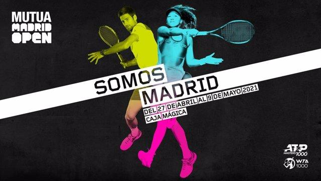 Cartel de la campaña de marketing del Mutua Madrid Open para su edición de 2021