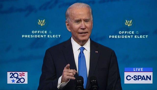 El presidente electo de Estados Unidos Joe Biden.