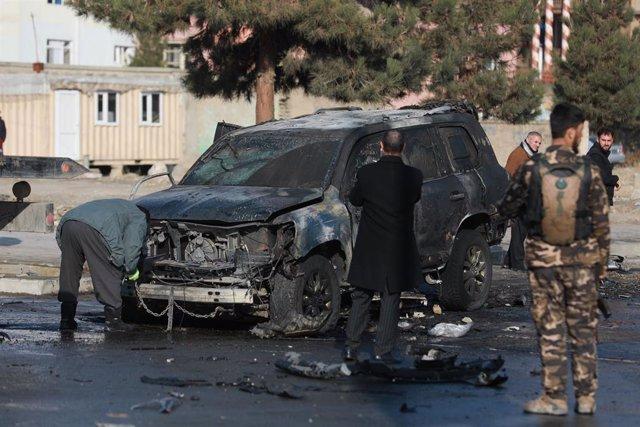 Ataque con coche bomba en Kabul, Afganistán.