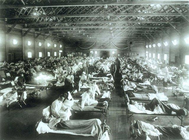 Pandemia, foto histórica