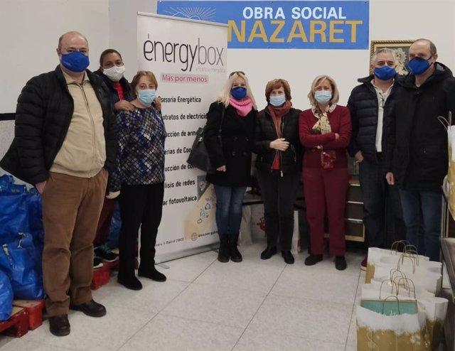 : La Directiva De Energybox Siendo Participe De La Campaña