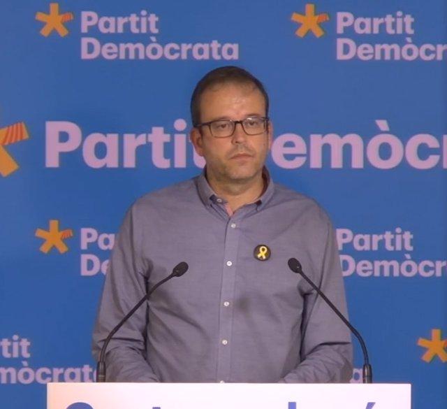 El portaveu del PDeCAT, Marc Solsona